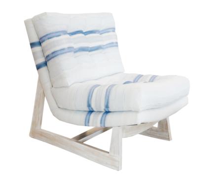 Kerri Rosenthal Romeo Chair - Blue/White