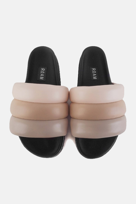 ROAM The Puffy Slide Shoes - Nude