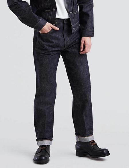 Levis Vintage Clothing 1955 501 Jeans - Navy Blue