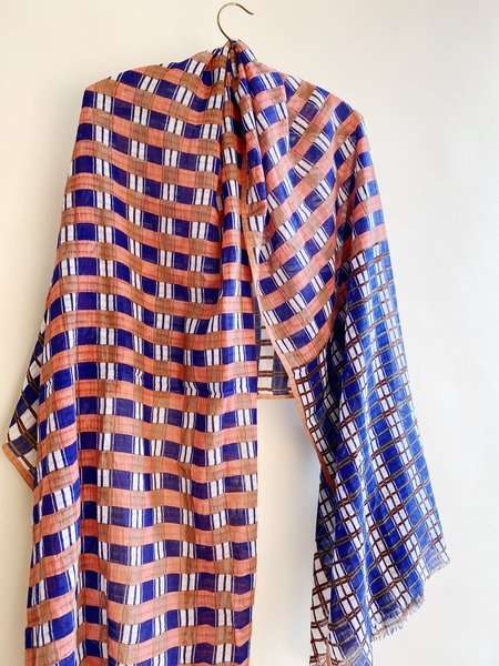 Abigail Rose & Lily Too Cotton Check Summer Scarf