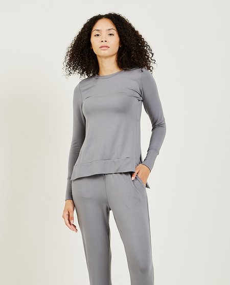 High Low Pullover - Grey