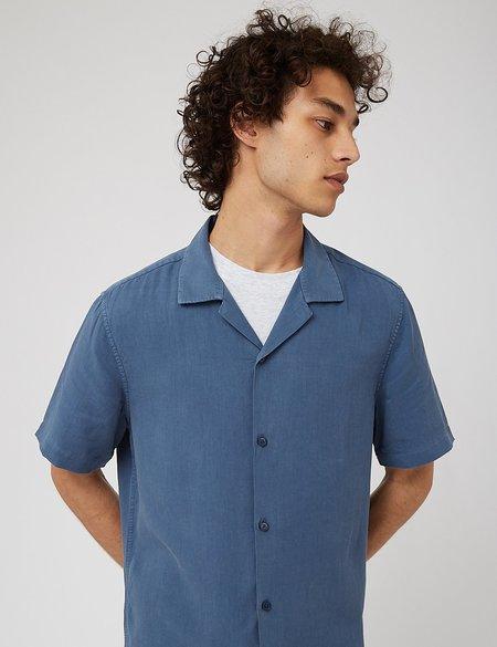 NN07 Miyagi Short Sleeve Shirt - Washed Navy Blue