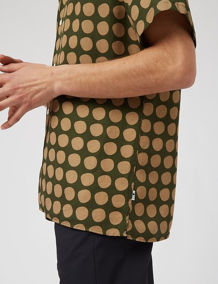 NN07 Miyagi Short Sleeve Shirt - Army Green