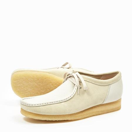 Clarks WALLABEE  - WHITE COMBI