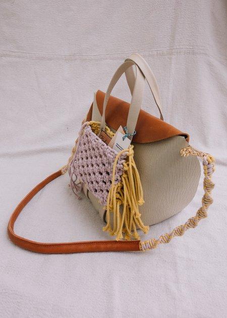 IL Cigno Nero Bucket bag with macrame