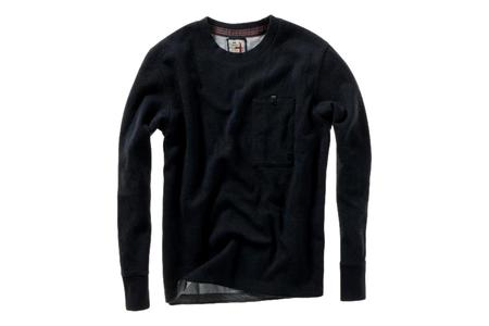 Relwen Windsurf Pocket Crew sweater - Navy Heather