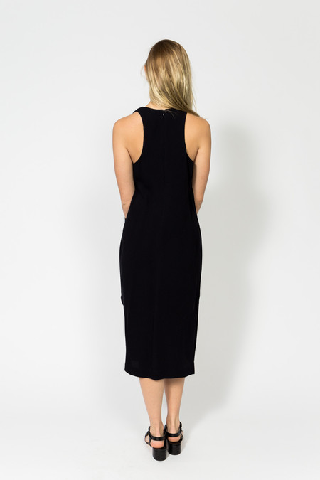 Nomia Shoulder Tie Midi Dress