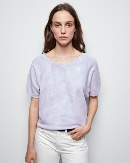 Nili Lotan Ciara Tie Dye Sweatshirt - Lavender Tie Dye