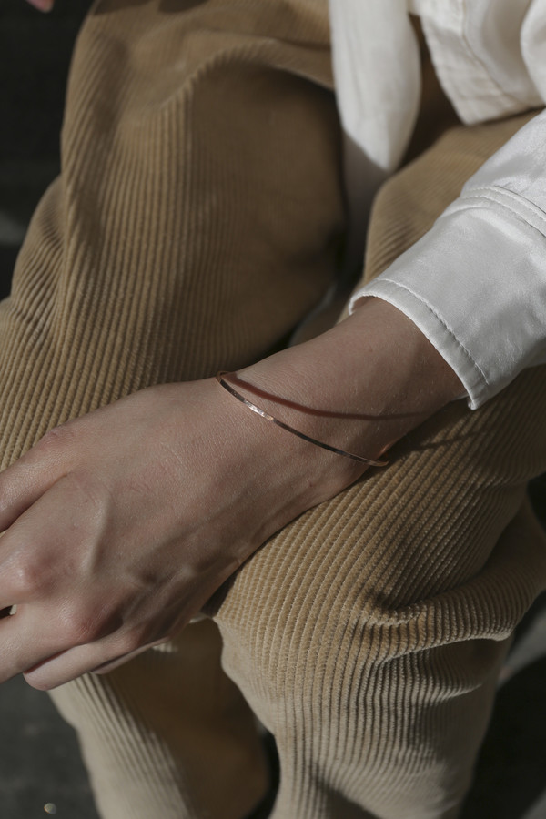 Blanca Monrós Gómez Thin Bangle in 14K Rose Gold