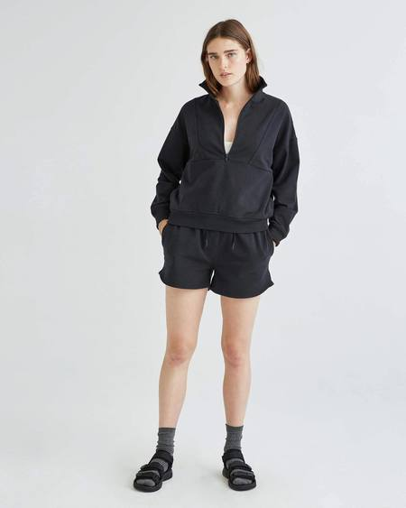 Richer Poorer Terry Half Zip Pullover - Stretch Limo