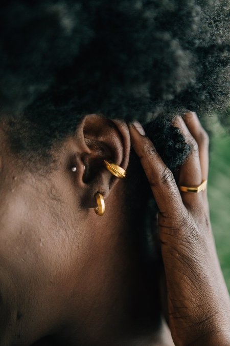 Sierra Winter Jewelry Ace Ear Cuff - Gold Vermeil