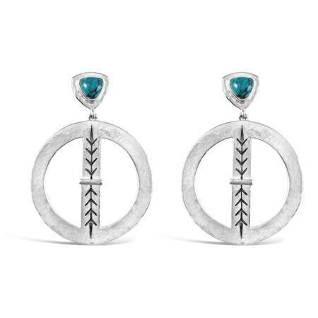 Sierra Winter Jewelry Bluestem Earrings - Sterling Silver/Genuine Turquoise