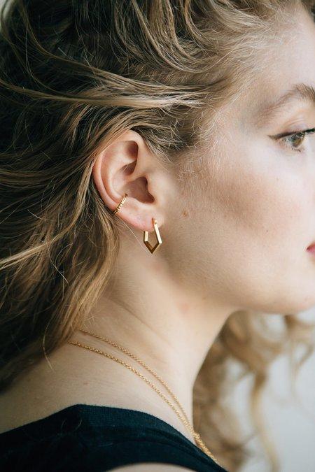 Sierra Winter Jewelry Delta Hoop Earrings - Gold Vermeil