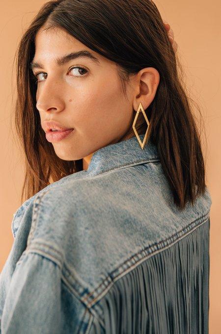 Sierra Winter Jewelry Diamond Back Earrings - Gold Vermeil
