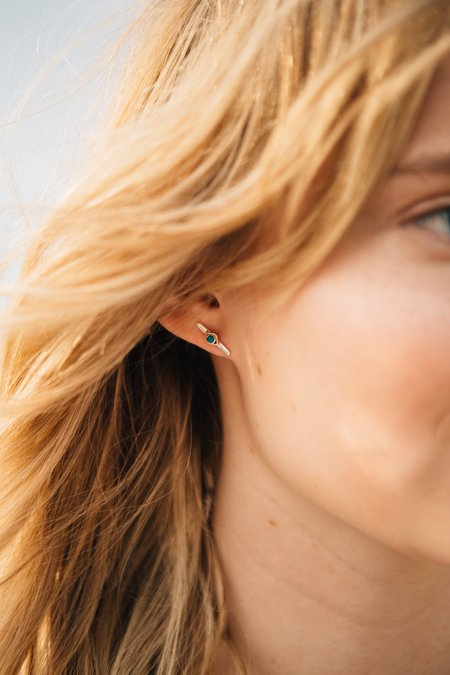 Sierra Winter Jewelry Horizon Earrings - Sterling Silver/Turquoise