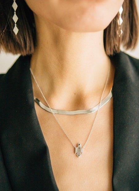 Sierra Winter Jewelry Thunderbird Necklace - Sterling Silver/Black Diamond