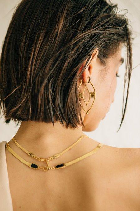Sierra Winter Jewelry Warrior Hoop Earrings - Gold Vermeil