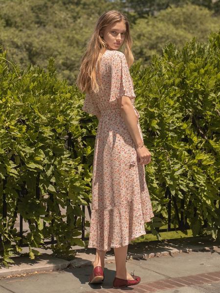 BLNC Floral Ruffle Dress - Pink