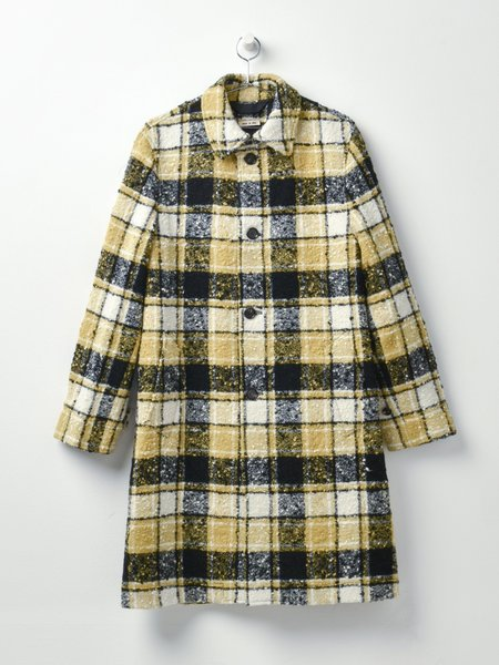 Marni OVERCHECK BOUCLE FLANNEL jacket - CITRONELLE CHECK