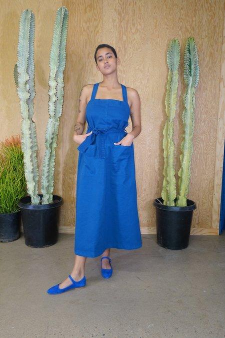 Rachel Comey Goff Dress - Blue Chino Twill