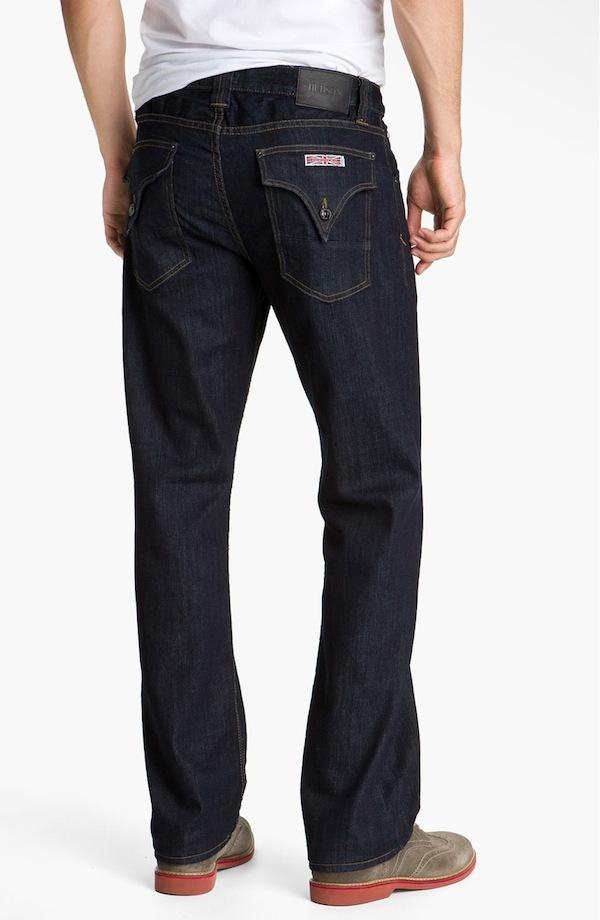 Hudson Men's Barton Flap Pocket Relaxed Straight Leg