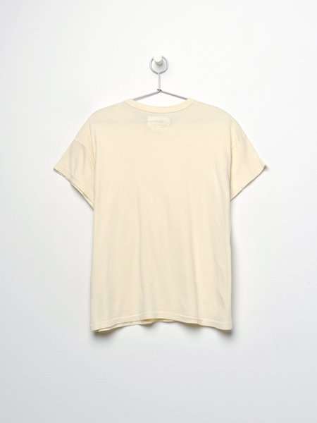 The Great. THE BOXY CREW sweater - WASHED WHITE