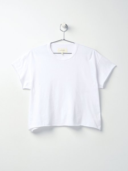 The Great. THE CROP TEE - TRUE WHITE