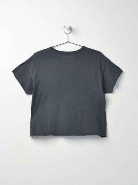 The Great. THE CROP TEE - WASHED BLACK