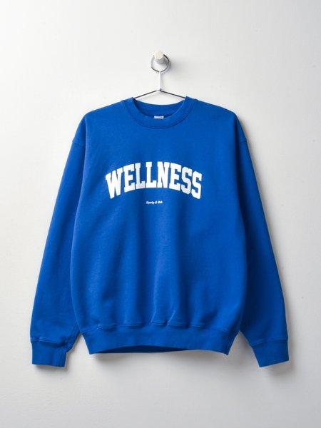 Sporty & Rich Wellness Ivy Crewneck - Princess Blue/White