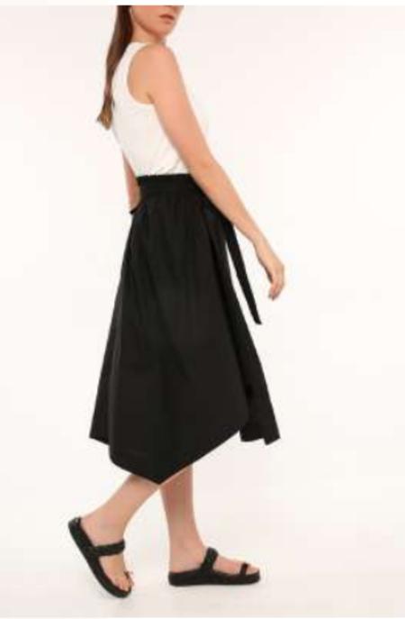 Ozai N Ku Cotton Poplin Skirt - Black