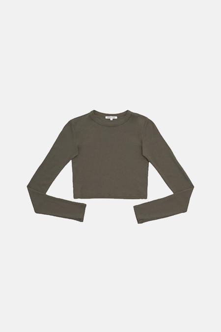 Cotton Citizen Verona Crop Shirt - Taupe