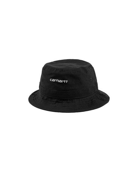 CARHARTT WIP Gorro Script Bucket Hat - Black/White