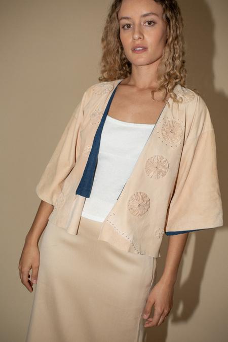 Milena Silvano Suede Kimono - Pink