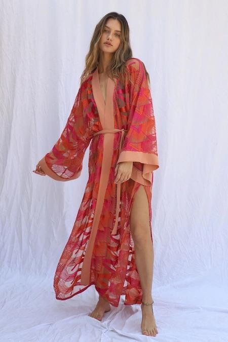 Jen's Pirate Booty Flamingo Heights Kimono - Desert Moonrise