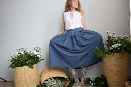 Devon's Drawer Gardenia skirt