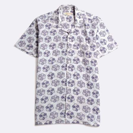 Far Afield Patchwork Floral Selleck Short Sleeve Shirt - White