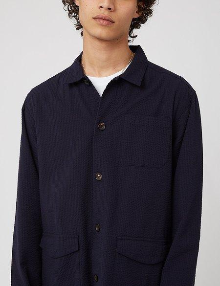 Oliver Spencer Hockney Shirt Jacket - Hattison Navy Blue