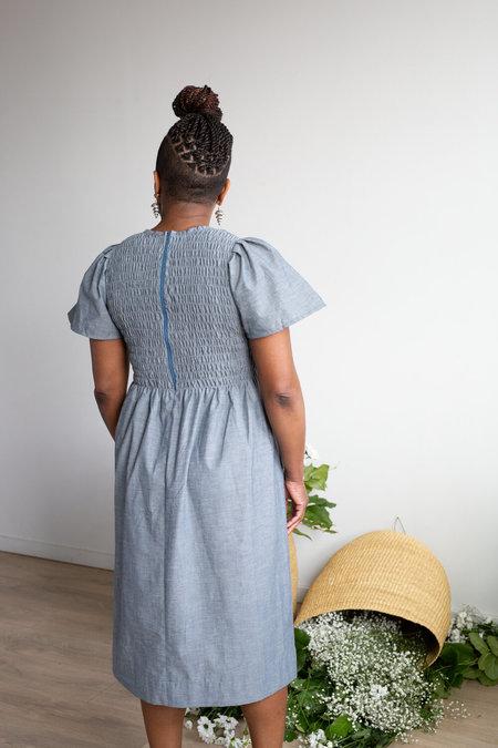 Devon's Drawer organic cotton Crocus Dress - Chambray
