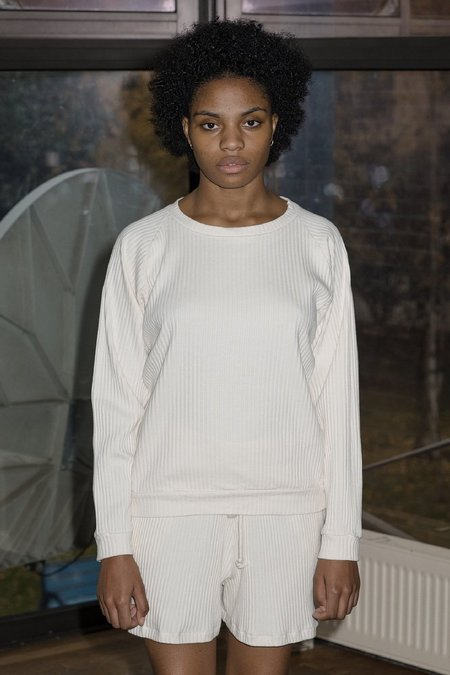 Baserange Basic Ribbed Fleece - Off White