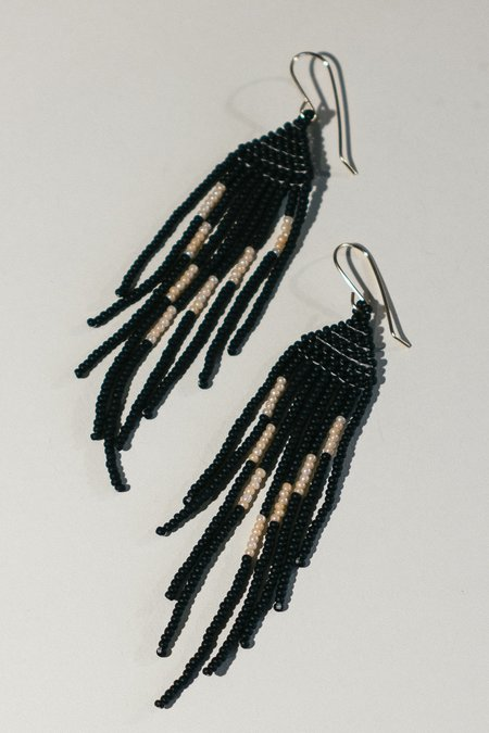 Lu in the Frey Disco Fringe Earrings