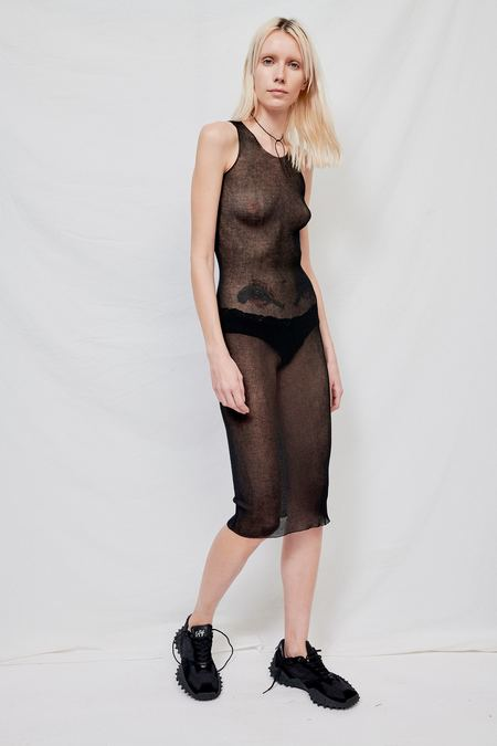 Gabriela Coll No.115 Top Knitted Dress - Black