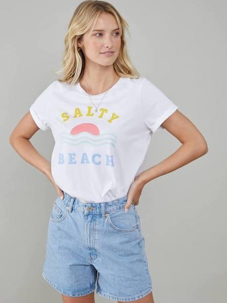 South Parade Lola Loose Salty Beach Tee - white