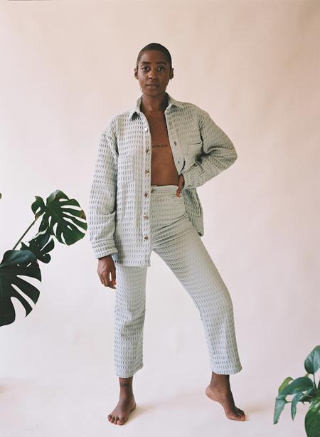 Aniela Parys Kalypso Waffle Trousers - white