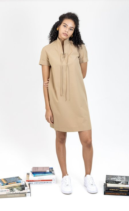 Vintage 1960s Shift Safari Dress - Beige