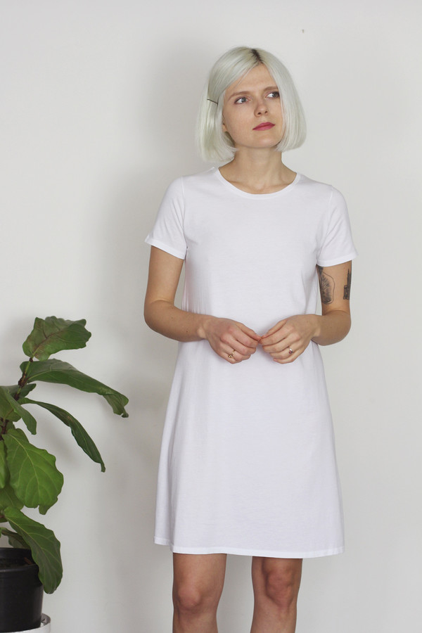 Calder Blake Viv Dress in Solid Cotton Jersey