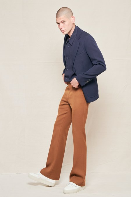 AMI Wide Fit Trousers - COPPER BROWN 215