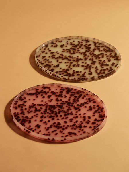 Aeyre Oval Tray - Turquoise Spot