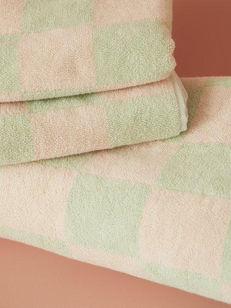 Aeyre Towel Set - Big Check Mint