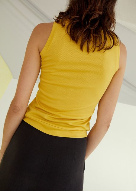 permanent vacation Luxe Tank - Yellow
