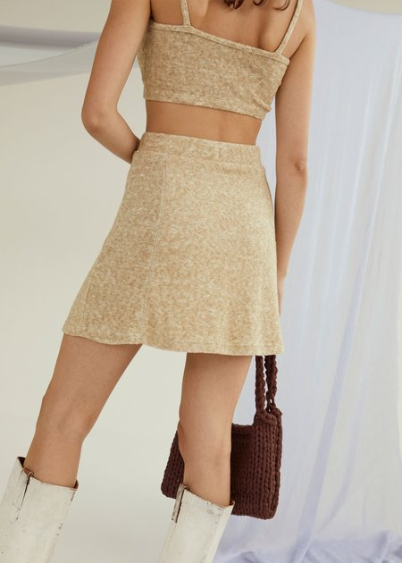 permanent vacation Unity Skirt - Stone